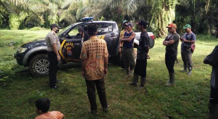 Lokasi penemuan bayi perempuan yang ditemukan pegawai sawit. (Foto: TitikNOL)