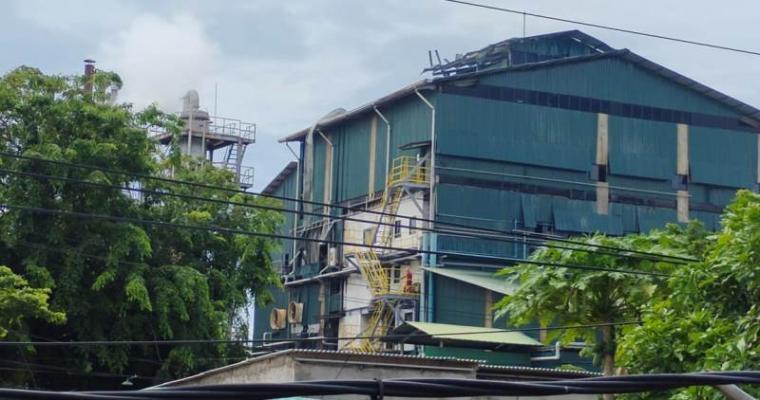 Kondisi pabrik PT Dover Chemical yang meledak. (Foto: TitikNOL)