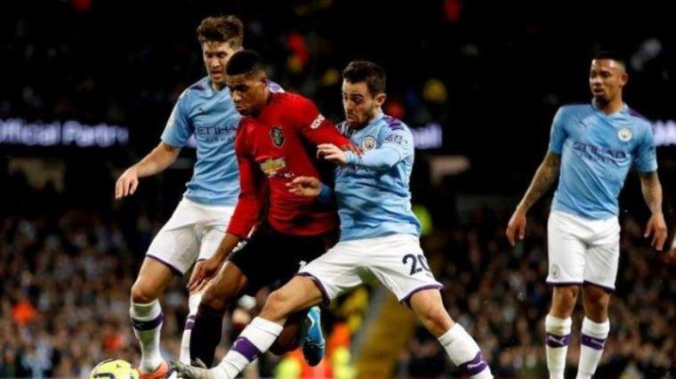 Manchester United vs Manchester City. (Dok: Tribunnews)