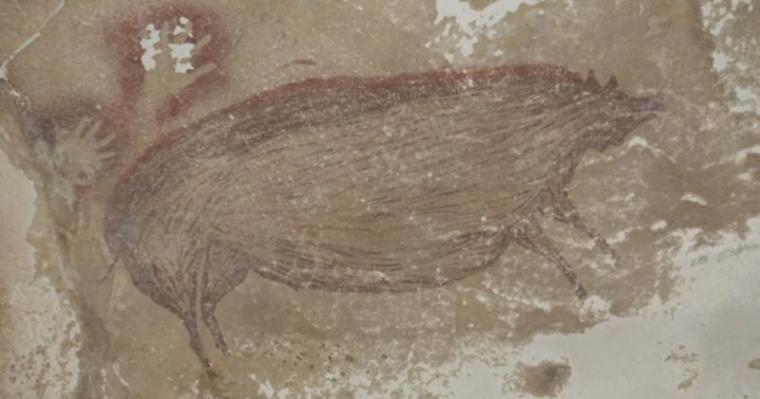 Lukisan gua tertua di dunia ditemukan di sulawesi. (Dok: Sindonews)