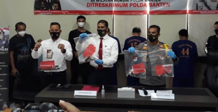 Press conference kasus tindak pidana curanmor roda empat di wilayah hukum Polda Banten. (Foto: TitikNOL)