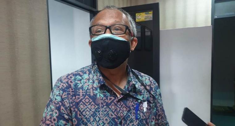 Ketua Primkokas, Syarif Rahman saat memberikan keterangan kepada awak wartawan di kantornya.