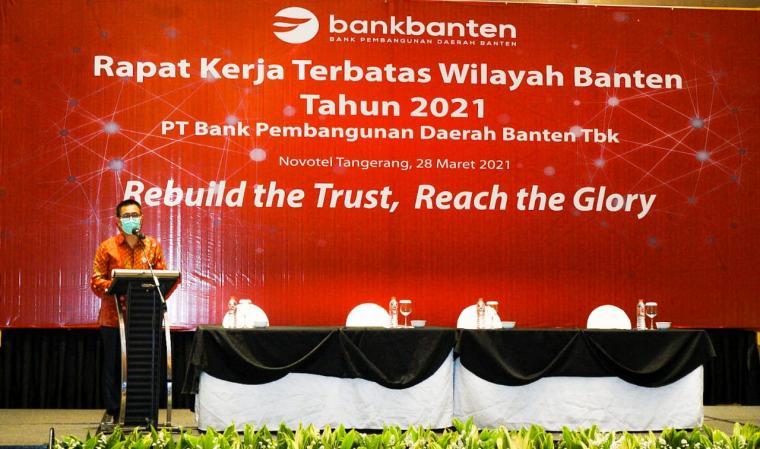Rapat kerja terbatas PT Bank Pembangunan Daerah Banten. (Foto: TitikNOL)