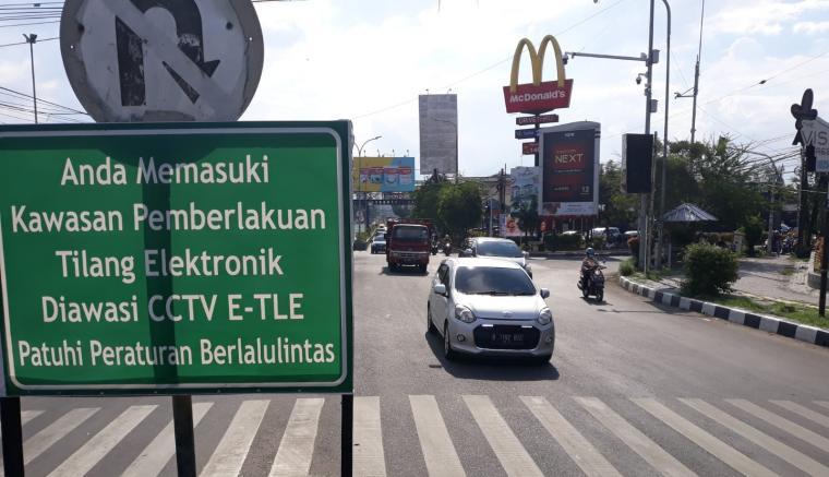 Salahsatu titik tilang eletronik atau Electronic Traffic Law Enforcement (ETLE) di Kota Serang. (Foto: TitikNOL)