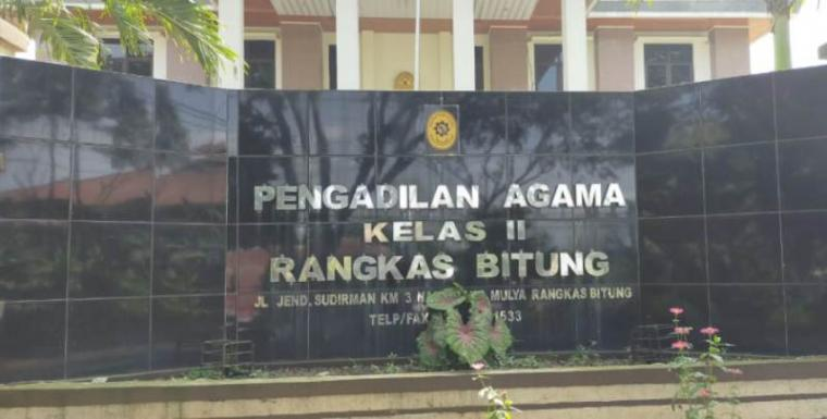 Pengadilan Agama Kelas II Rangkasbitung. (Foto: TitikNOL)