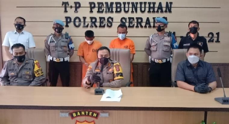 Pers conference pelaku pembunuhan. (Foto: TitikNOL)