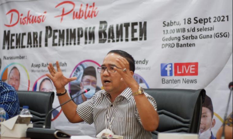 Mantan Ketua DPRD Provinsi Banten Asep Rahmatullah. (Foto: TitikNOL)