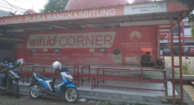 Lokasi tempat wifi plaza Telkom Rangkasbitung. (Foto: TitikNOL)